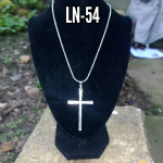 LARGE SILVER CROSS PENDANT 925 ..  LN-54